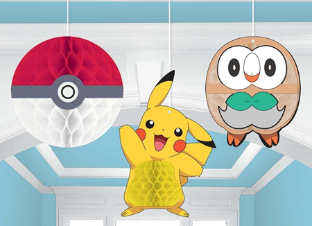 Pokemon Honeycomb Hanging Decorations