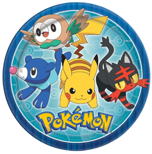 Pokemon Party Plates Large