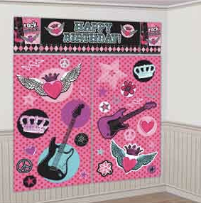 Rocker Princess Scene Setter Decoration