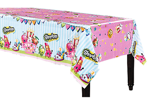 Shopkins Plastic Table Cloth