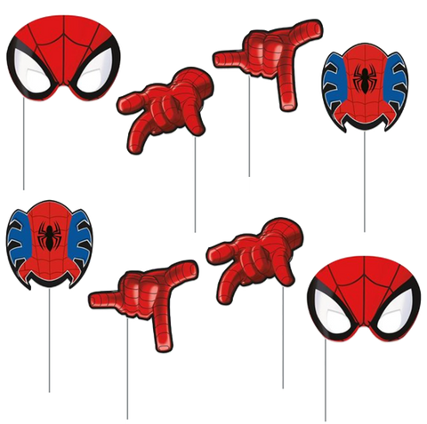 Spiderman Party Photo Props