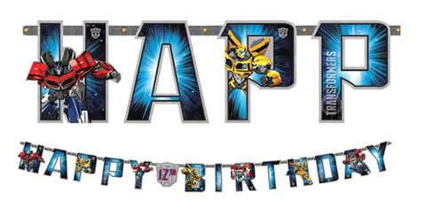 Transformers Add and Age Happy Birthday Banner NZ