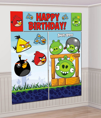 Angry Birds Happy Birthday Scene Setter
