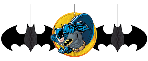 Batman Party Honeycomb Decorations