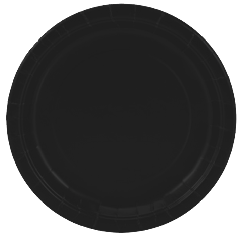 BLACK paper party plates  sc 1 st  Kids Party Supplies \u0026 Decorations & Black Small Party Plates   Just For Kids