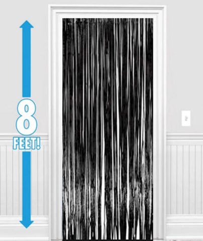 Black Metallic Foil Curtains