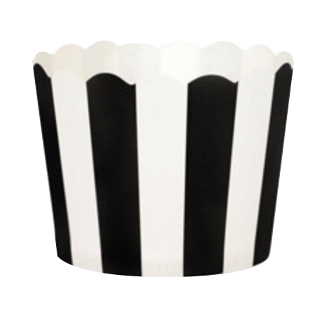Black and White Striped Cupcake Cases