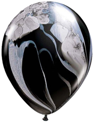 Black White Marble Balloon