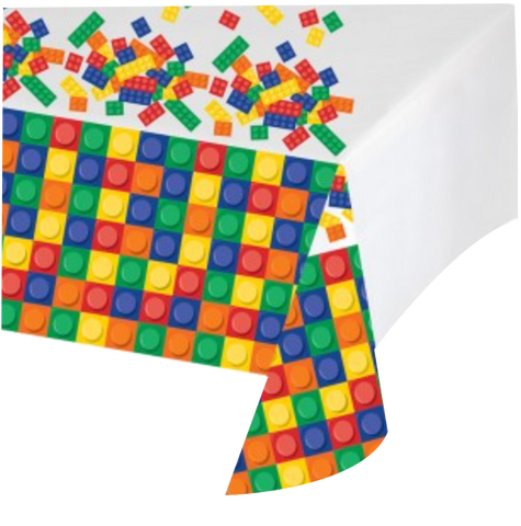 Block Lego Party Table Cloth