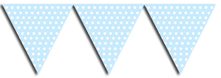 Pink Bunting Party Flags, party supplies, decorations, boys party theme