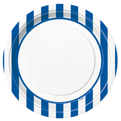 Blue Striped Dinner Plates