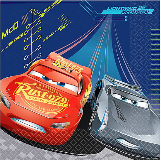 Disney cars party supplies decorations just for kids cars 3 party lunch napkins solutioingenieria Images