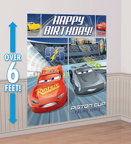 Cars 3 Happy Birthday Scene Setter