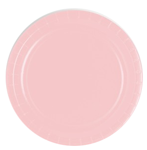 Classic Pink paper party plates