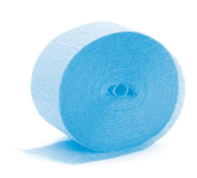 Cool Blue Crepe Paper Streamer