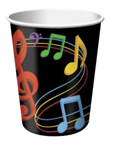 Dancing Music Notes Cups