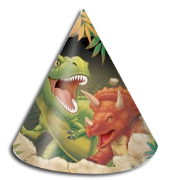 Dinosaur party hats