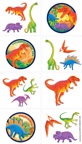 Dinosaur Party Temporary Tattoos