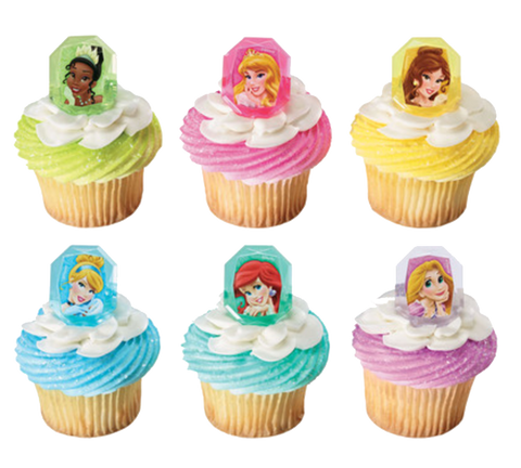 Disney Princess Cupcake Topper Rings