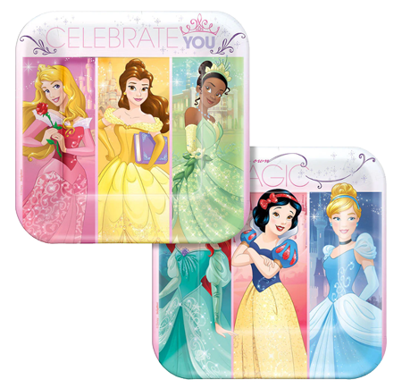 Disney Princess Lunch Plates pk8