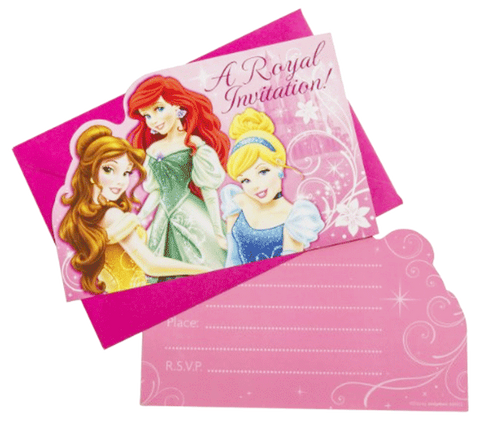 Disney Princess Sparkle Invitations