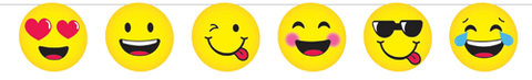 Emoji Smiley Faces Party Banner