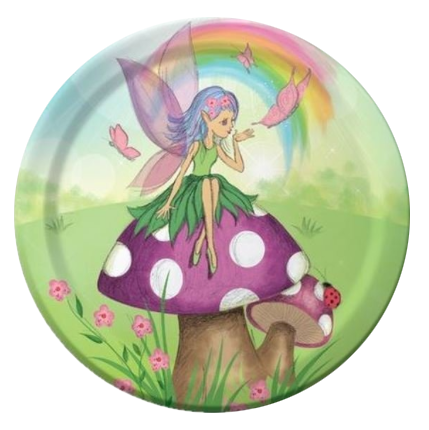 Fancy Fairy Party Plates Small