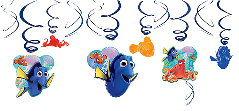Finding Dory Swirl Decorations