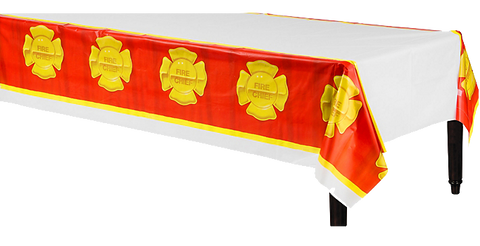 Fire Fighter Plastic Table Cloth
