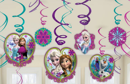 Frozen Party Swirl Decorations for your frozen party room