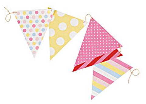 Girls Multi-Coloured Party Flags