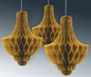 Gold Chandelier Honeycomb Decoration