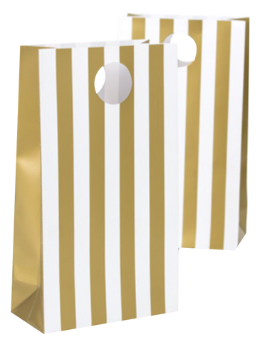 Gold Stripe Party Bags
