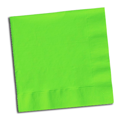 paper napkins, party supplies, tableware, lime green napkins