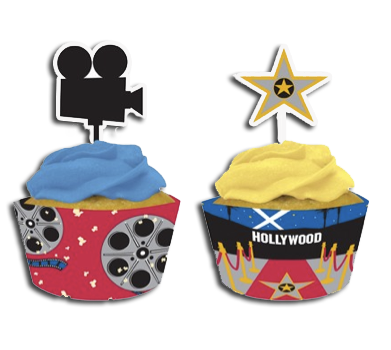 Hollywood Reel Cupcake Wrappers