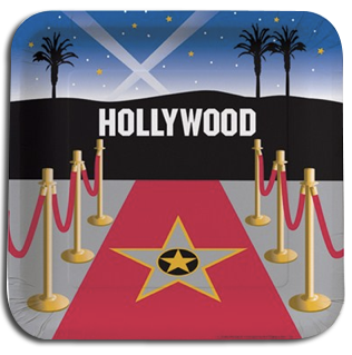Hollywood Reel Dinner Party Plates