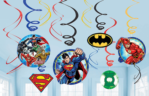 Justice League Swirl Decorations