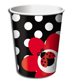 Little Ladybug Party Cups - 8 per pack