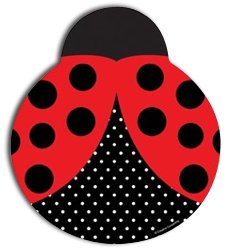 Ladybug Shaped Party Plates - Large