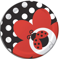 Little Ladybug shaped Party plates - 8 per pack