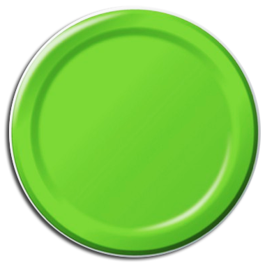 paper plates, party supplies, tableware, lime green party plates