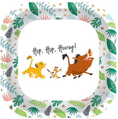 Lion King Lunch Party Plates NZ