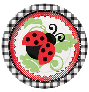 Lively ladybugs Large Party Plates
