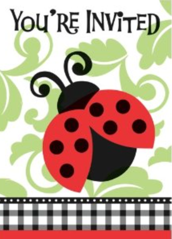 Lively Ladybug Party Invitations