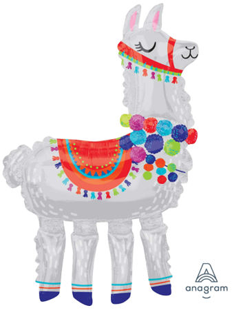 Llama Airwalker Huge Foil Balloon