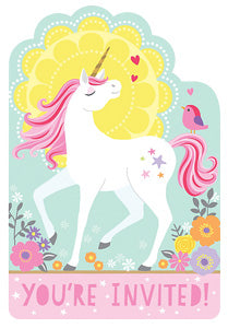 Magical Unicorn party Invites