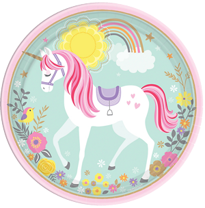 Magical Unicorn Party Plates Large