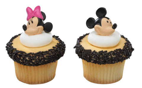 Mickey and Minnie Cupcake Rings