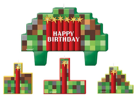 Minecraft Party Candles NZ