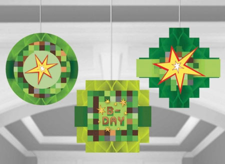 Minecraft Honeycomb Hanging Decoration